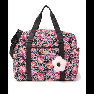 Betsey Johnson: Quilted Floral Print Weekender Bag